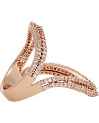 Fallon - Metallic Layered Pointer Ring - Lyst