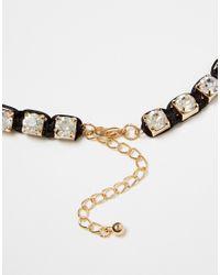 Little Mistress | Black Rhinestone Collar Necklace | Lyst