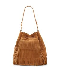 Vince Camuto | Brown Joni Leather Drawstring Bucket Bag | Lyst