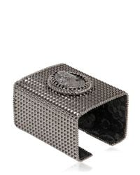 Bisou Bijoux - Black Big Square Cuff Bracelet - Lyst