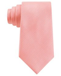 Geoffrey Beene Orange Bias Stripe Solid Extra Long Tie for men