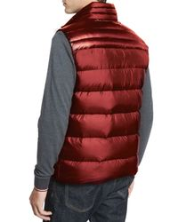 Moncler - Brown Dupres Quilted Puffer Vest for Men - Lyst