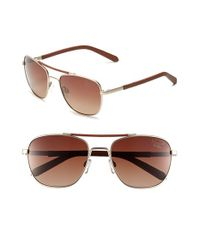Original Penguin - Brown 'the Joey' 56mm Polarized Sunglasses for Men - Lyst