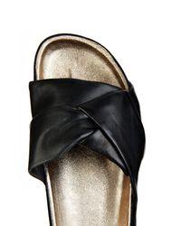 Isabel Marant Black Boop Leather Pool Slides
