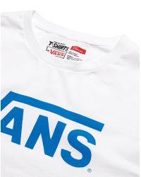 Vans - White Long Sleeve T Shirt With Logo Print for Men - Lyst