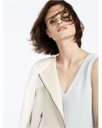BaubleBar | Metallic Diamond Initial Necklace | Lyst