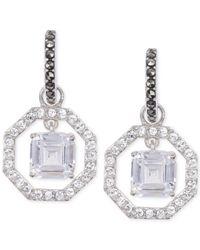 Judith Jack | Metallic Crystal (1/2 Ct. T.w.) And Marcasite (1/5 Ct. T.w.) Orbital Drop Earrings | Lyst