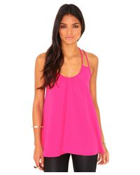 Missguided | Elishia Multi Strap Swing Top In Hot Pink | Lyst