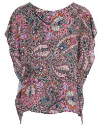 French Connection Pink Sundown Drape Top