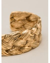 Aurelie Bidermann Metallic Braided Bracelet