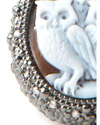 Amedeo - Brown Three Owls Diamond Ring - Lyst