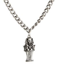 ASOS Metallic Necklace with Egyptian Mummy for men