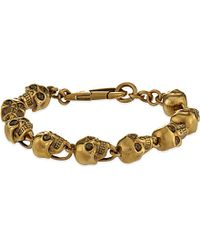 Alexander McQueen | Metallic Doctor Skull Bracelet for Men | Lyst