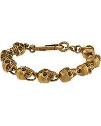 Alexander McQueen - Metallic Doctor Skull Bracelet for Men - Lyst