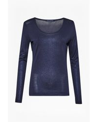 French Connection | Blue Metallic Martha Top | Lyst