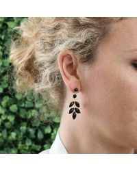 Irene Neuwirth Metallic Marquis Black Onyx Earrings