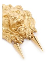 Ela Stone - Metallic 'nala' Lion Head Spike Drop Earrings - Lyst