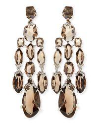 Alexis Bittar Fine Metallic Smoky Quartz & Diamond Chandelier Earrings