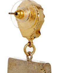 Dara Ettinger Metallic Gold-plated Druzy Earrings