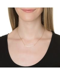 Alexa Leigh | Metallic Large Double Bar Necklace | Lyst