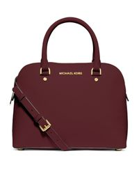 MICHAEL Michael Kors | Purple Cindy Medium Saffiano Leather Satchel | Lyst