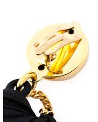 Moschino Metallic Biker Bag Clip-on Earrings
