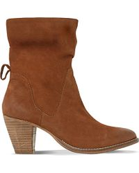Dune Brown Rosana Nubuck Calf Boots