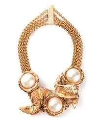Christian Lacroix Metallic 'wave' Necklace