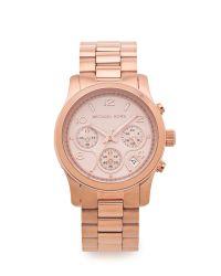 Michael Kors Metallic Runway Watch - Rose Gold