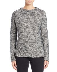 Lord & Taylor | Black Slub-knit Boxy Sweater | Lyst