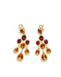 David Yurman - Metallic Dy Signature Collection Chandelier Earrings - Lyst