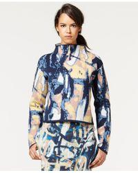 RACHEL Rachel Roy Multicolor Printed Jacquard Mock-turtleneck Top