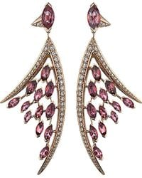 Shaun Leane | Aerial 18ct Rose-gold, Pink Tourmaline And White Diamond Earrings | Lyst