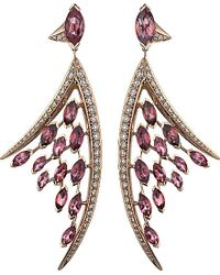 Shaun Leane - Aerial 18ct Rose-gold, Pink Tourmaline And White Diamond Earrings - Lyst