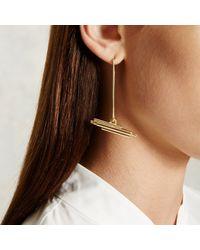 Trademark | Metallic Drop Pipe Earrings | Lyst