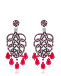 "Anna E Alex | Purple ""Pavone"" Earrings 