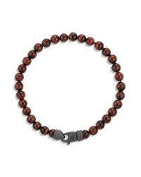David Yurman | Brown Spiritual Bead Tiger'S Eye Bracelet for Men | Lyst