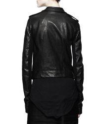 Rick Owens | Stooges Multizip Leather Jacket Black | Lyst