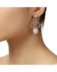 Monica Vinader Metallic Riva Cluster Earrings