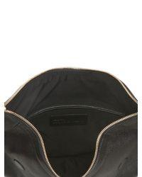 Alexander McQueen Black Demanta Classic Leather Clutch