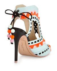 Sophia Webster | Blue Riko Color-Blocked Leather Sandal | Lyst