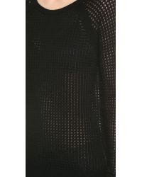 Vince Black Raglan Thermal Cashmere Sweater Salmon