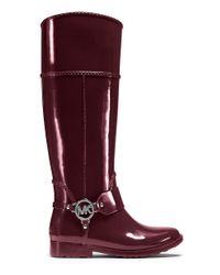 MICHAEL Michael Kors   Purple Fulton Harness Rain Boots   Lyst