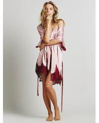 For Love & Lemons Pink She'S A Knockout Robe