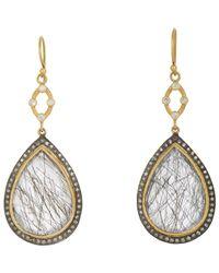 Sara Weinstock - Metallic Quartz & Diamond Double-drop Earrings - Lyst