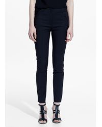 Mango | Black Zip Cotton Trousers | Lyst