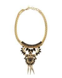 Elizabeth Cole | Black Harper Necklace - Jet Fleck | Lyst