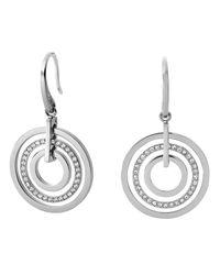 Michael Kors - Metallic Pavé Disc Earrings - Lyst