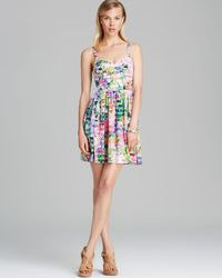 Amanda Uprichard Multicolor Dress Champagne Silk