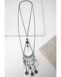 Forever 21 - Metallic Longline Faux Crystal Necklace You've Been Added To The Waitlist - Lyst